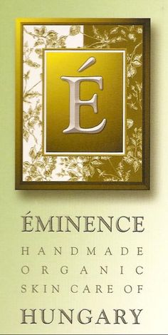 Eminence Organic Skincare of Hungary, We sell this at my work and just had a product knowledge meeting! I love this soo much, fresh face for the wedding in no time! :)