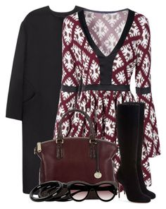 Long Sleeve Skater Dress by brendariley-1 on Polyvore featuring polyvore, fashion, style, Non, Christian Louboutin, Brahmin, STELLA McCARTNEY, Furla and clothing