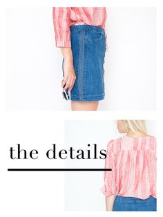Denim skirt…How to wear it,