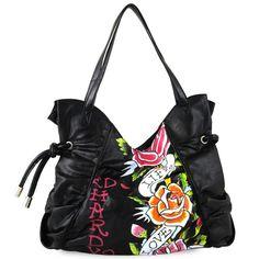 Ed Hardy Vanessa Tote Bag – Black Backpack Purse d129cd6257e31