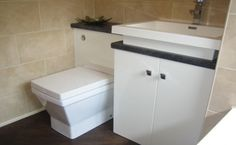 Modern toilet and vanity unit