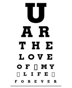 Eye Chart Art • For the Boyfriend • Because he is