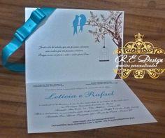 Convite Casamento - Coleção Royal | R.E Design | Elo7