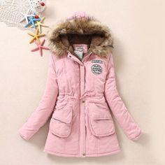 Warm Leisure Solid Color Flocky Spliced Hood Coat from littledaisy