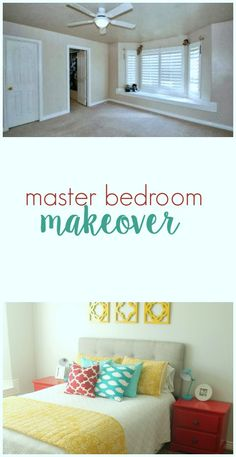 Master Bedroom Makeover on TheHowToCrew.com.