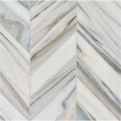 Skyline Vein Cut Multi Finish Bosphorus Marble Waterjet Decos 13 7/16x 13 7/16
