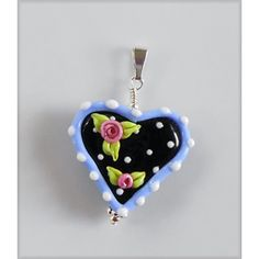 Limited Edition Mary Engelbreit Jewelry: Cottage Rose Heart Pendant