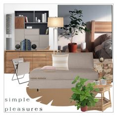 """""""Simple Pleasures"""" by rainie-minnie ❤ liked on Polyvore featuring interior, interiors, interior design, home, home decor, interior decorating, PUR, Hey Sign, Crate and Barrel and Design Within Reach"""