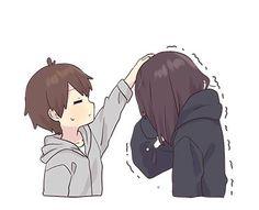 Sad Anime Girl, Anime Child, Kawaii Anime Girl, Sad Girl Art, Chibi Boy, Cute Anime Chibi, Anime Love Couple, Cute Anime Couples, Gifs Kawaii
