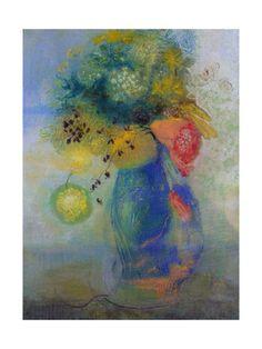 Vase of flowers - Odilon Redon Affiche encadrée sur AllPosters.fr