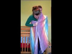 Unpoppable shorty back carry with size 2 - 4 woven wrap - YouTube I want to try this!!