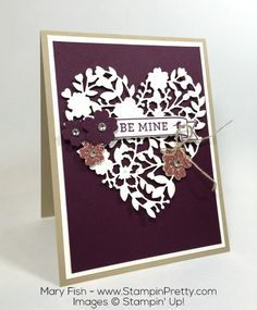 Stampin Up Valentines Day Bloomin Heart Thinlits Dies By Mary Fish