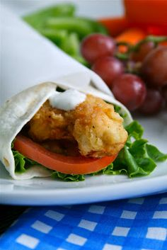 Crispy Chicken & Ranch wraps - another great lunch idea for the kids or awesome to pack for a picnic with some fresh fruit and veggies on the side.
