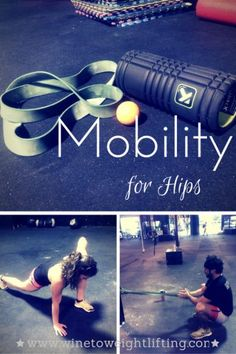 Crossfit Mobility for Hips; a look at various stretches to help mobilize hips for Crossfit by @fabfayetteville  from @winetoweights blog. For more Crossfit-related posts, check out www.winetoweightlifting.com