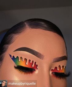 na … by Nails Ma -. - Beauty - Make UP Makeup Eye Looks, Eye Makeup Art, Colorful Eye Makeup, Crazy Makeup, Cute Makeup, Pretty Makeup, Skin Makeup, Eyeshadow Makeup, Makeup Tips