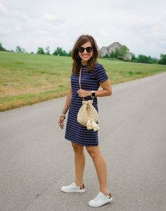 Comfortable, casual striped dress from Old Navy  #CyndiSpivey #womensfashion #casualoutfit #dress #summeroutfit #fashonover40 Cute Summer Dresses, Summer Outfits, Casual Outfits, Fashion Outfits, Womens Fashion, Woman Outfits, Club Outfits, 80s Fashion, Work Fashion
