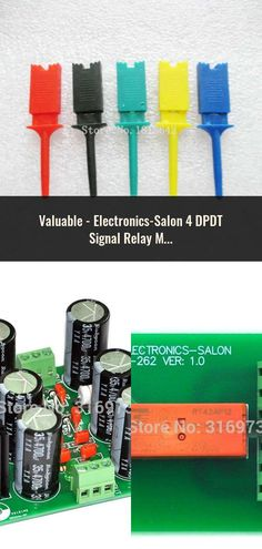 DC 12V Version Electronics-Salon 4 DPDT Signal Relay Module Board for Arduino Raspberry-Pi 8051 PIC.