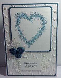 Handmade Personalised Wedding Card by LouisesCardsandGifts on Etsy