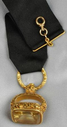 Fob Example: Late Georgian yellow gold and citrine watch fob