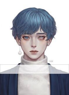 Korean Anime, Korean Art, Anime Art Girl, Manga Art, Animation 3d, Drawn Art, Boy Illustration, Handsome Anime, Cute Anime Guys