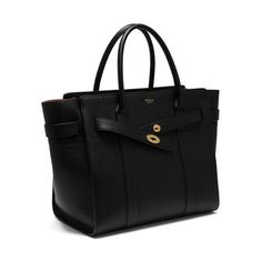 Mulberry - Zipped Bayswater in Black Small Classic Grain