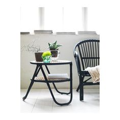 add black and white pillow, NIPPRIG 2015 Chair - black - IKEA