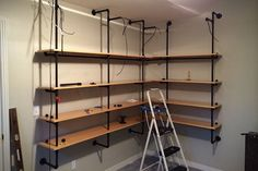 DIY Lighted Pipe Shelves | HiConsumption