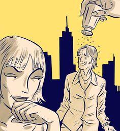 ¡Sazóname!, illustration by Max Vento  #viñeta #maxvento #illustration #illustrator #couple #comedy #dibujo #ilustracion #bitono #valencia #duotone #ilustrador #dibujante #comic #actoraspirante