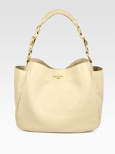 Prada  Vitello Daino Hobo Bag, beige or black