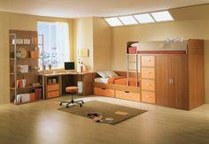 lits superposés avec armoire de rangement