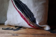 Your place to buy and sell all things handmade Tea Stains, Wide Stripes, Pillow Ideas, Home Furniture, Textiles, Sew, Throw Pillows, Spaces, Crafty