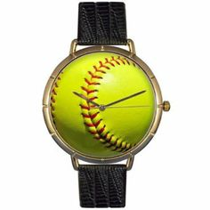 Whimsical Watches Women's N0840003 Softball Lover Black Leather And Goldtone Photo Watch Whimsical Watches. $44.95