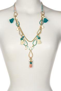 Tassel Charm Necklace on @HauteLook