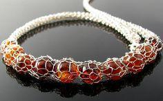 crochet jewelry patterns view in gallery diy wire crochet bracelet HBVYFYX Diy Wire Crochet Jewelry, Crochet Jewelry Patterns, Bead Crochet, Crochet Jewellery, Crochet Bracelet Pattern, Bracelet Patterns, Jewelry Crafts, Handmade Jewelry, Knitted Necklace