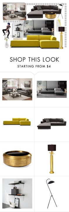 """Sofa design"" by ildiko-olsa ❤ liked on Polyvore featuring interior, interiors, interior design, home, home decor, interior decorating, Couture Lamps and Home Design Studio"