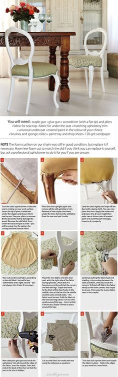 DIY chair upholstery diy crafts craft ideas easy crafts diy ideas diy idea diy furniture diy home easy diy for the home crafty decor home ideas diy decorations