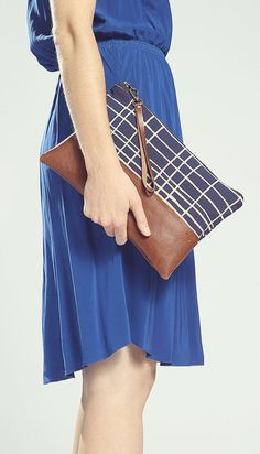 The Belinda Clutch ///// Indigo Clutch. Brown