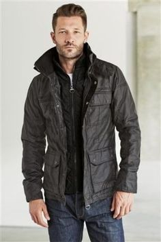 Buy Black Wax Look Jacket from the Next UK online shop