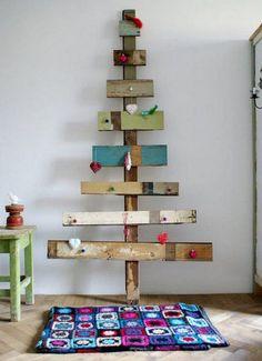 Árvores de Natal Feitas com Madeira Reciclada