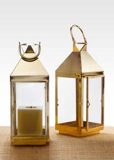 gold lanterns wedding decorations | Shiny Brass Gold Square Lantern Wedding Garden Party Event Decorations