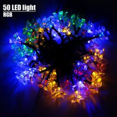 Solar string lights outdoors from rapid spirit for all your garden decoration,50 Multi color led blossom fairy lights for patio decking areas,ideal for homes, wedding,christmas parties.Brings that magical feeling into your garden decor deck lighting Rapid Spirit http://www.amazon.com/dp/B011BZ4XXC/ref=cm_sw_r_pi_dp_aitSvb02XFHMM