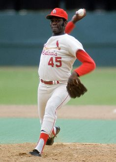 BOB GIBSON:  PITCHER WITH ST LOUIS CARDINALS