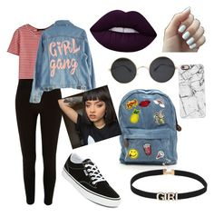 """""""Sin título #1"""" by antoniaalvarez173 on Polyvore featuring moda, WithChic, River Island, High Heels Suicide, Lime Crime, Vans y Casetify"""