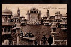 1912 Photo Boat Cascade Latin British Exhibition London UK Exposition Postcard