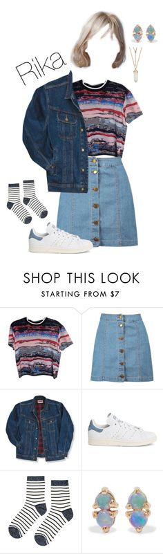 """""""After School Club 1st Time"""" by starz-official ❤ liked on Polyvore featuring Opening Ceremony, Boohoo, Wrangler, adidas, Accessorize and WWAKE"""
