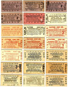 1920s train ticket -
