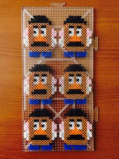 Perler beads Toy story Mr.Potato head I used tow L plate!!!!