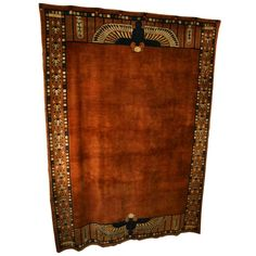 Exceptional Egyptian Revival Room sized Art Deco Carpet | From a unique collection of antique and modern chinese and east asian rugs at https://www.1stdibs.com/furniture/rugs-carpets/chinese-rugs/