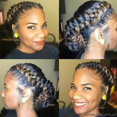 Natural around crown hair braid....