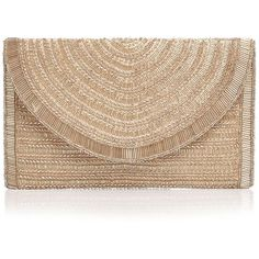 From St Xavier Bailey Beaded Clutch (€110) ❤ liked on Polyvore featuring bags, handbags, clutches, beaded handbags, beige purse, beaded purse, beige clutches and beige handbags